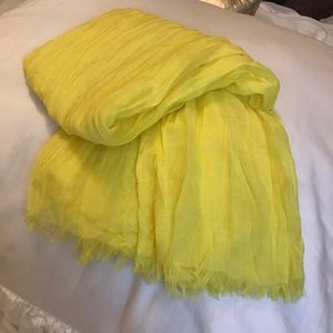 Rachel Roy Scarf Wrap Bright Yellow ..New No Tags